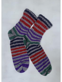 Notorious RBG Dark, Superwash Merino Wool, Bamboo and Nylon, Ankle Sock