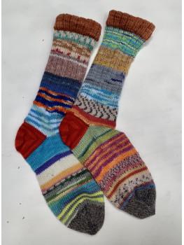 Crazy Socks Grab Bag 1, Various Yarns, Cuff Length Sock