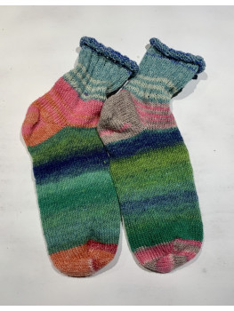 Rainbow of Wool, Superwash Wool and Nylon, Crazy Ankle Sock