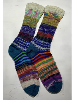 Crazy Sock, Madeline Trail, Various Yarns, Cuff Length Sock