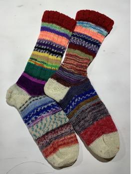 Crazy Sock, Fallison Trail, Various Yarns, Cuff Length Sock