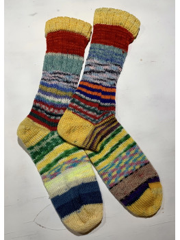 Crazy Sock, Schlect Lake Trail, Various Yarns, Cuff Length Sock