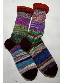 Crazy Sock, Raven Trail, Various Yarns, Cuff Length Sock