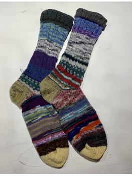 Crazy Sock, McNaughton Trail, Various Yarns, Cuff Length Sock