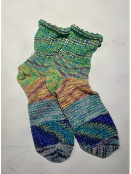 Just A Lot Of Fun, Superwash Wool, Nylon and Soy Silk, Ankle Sock