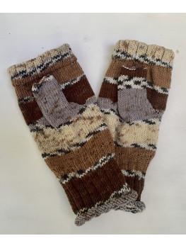 Sand to Rocks, No Wool, Acrylic, Fingerless Gloves
