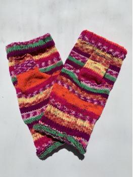 Ferociously Pink, No Wool, Fingerless Glove
