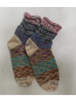 Scrappy Rainbow, 75% Wool 25% Nylon, Ankle Socks