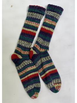 Christmas Up North, Superwash Wool and Nylon Cuff Length Socks