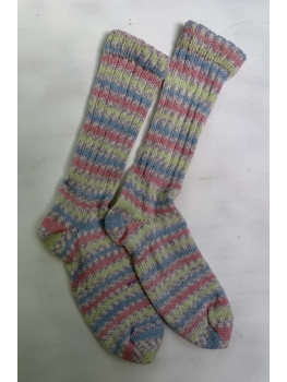 Cotton Candy, Superwash Wool and Nylon, Cuff Length Sock