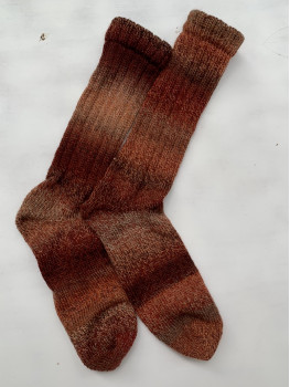 Fox Tail, Superwash Wool and Nylon Men's Cuff Length Sock