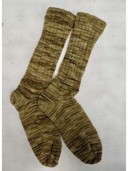 Pot of Gold, Superwash Merino Wool and Nylon, Cuff Length Sock