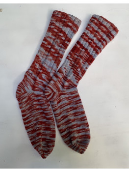 Winter Sunset, Superwash Merino Wool and Nylon, Cuff Length Sock
