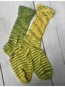 Packers Punch, Superwash Merino Wool and Nylon, Cuff Length Sock