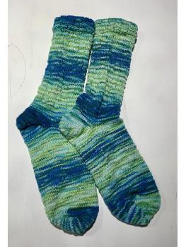 Mermaid's Tail, Superwash Merino Wool and Nylon, Cuff Length Socks