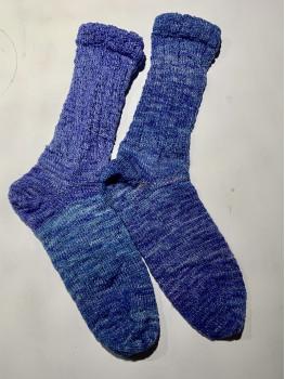 Calm Waters, Superwash Merino Wool and Nylon, Cuff Length Sock