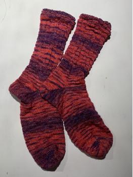 Eye Of The Loon, Superwash Merino Wool and Nylon, Cuff Length Sock