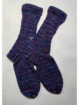 Canoe Ripples, Superwash Merino Wool and Nylon, Cuff Length Sock