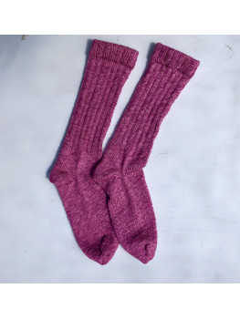 Pink Orchid, No Wool, Cuff Length Sock