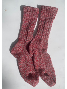 Peppermint Candy, No Wool, Cuff Length Sock