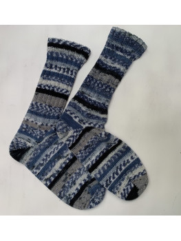 Blue Jeans, No Wool, Cuff Length Sock