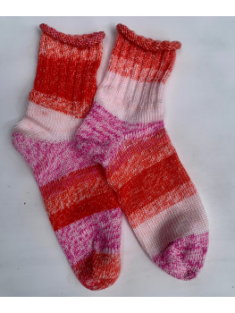 Strawberry Creme, No Wool, Ankle Sock
