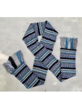 Blue Ice, Superwash Wool and Nylon, Scarf