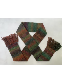Leaves on Fire, Superwash Wool and Nylon, Scarf