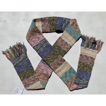 Scrappy Rainbow, Superwash Wool and Nylon, Scarf