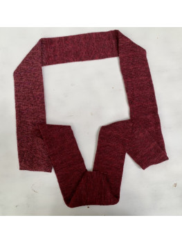 Dark Red, Super Wash Wool, Bamboo and Nylon, Infinity Scarf
