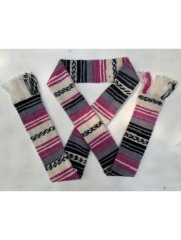 Pink Navajo, Superwash Wool and Nylon, Scarf