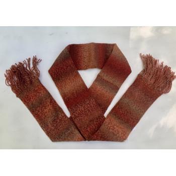 Fox Tail, Superwash Wool and Nylon, Scarf