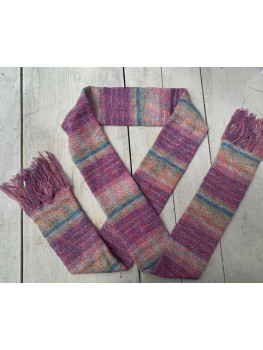 Pink Paradise, Superwash Wool, Cotton and Nylon, Scarf