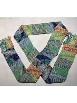 Just A Lot Of Fun, Superwash Wool, Soy Silk and Nylon, Scarf
