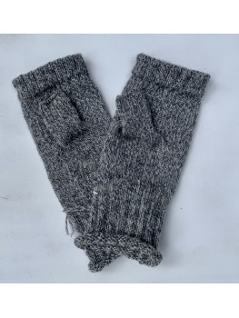 Northern Pike, Superwash Wool and Nylon, Fingerless Gloves, Rolled Cuff