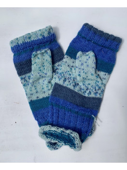 Blueberry Explosion, Superwash wool and Nylon, Fingerless Gloves
