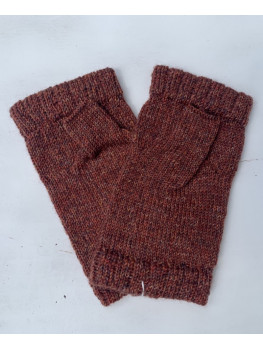 Campfire Embers, Superwash Wool and Nylon, Fingerless Gloves, Hemmed Cuff