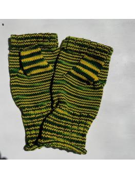 Packer Pride, Superwash Merino Wool and Nylon, Fingerless Gloves