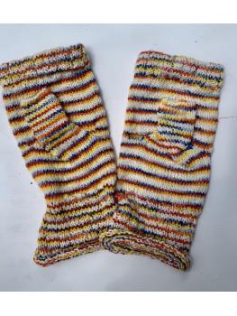 Early Morning, Superwash Merino Wool and Nylon, Fingerless Gloves