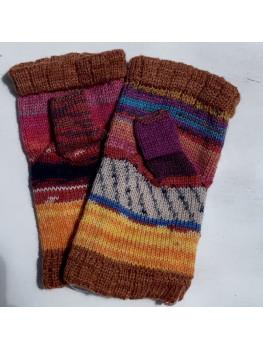 Crazy Gloves 1, Various Yarns, Fingerless Gloves