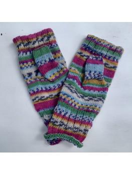 Grandma's Garden, Superwash Wool and Nylon, Fingerless Gloves