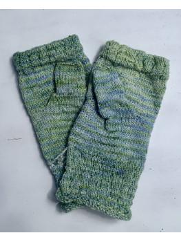 Frosty Pines, Superwash Merino Wool and Nylon, Fingerless Gloves