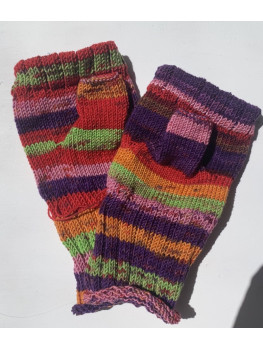 Over the Rainbow, No Wool, Fingerless Gloves