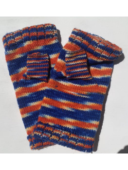 Da Bears, Superwash Wool and Nylon, Fingerless Gloves