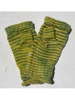 Packer Backer, Superwash Merino and Nylon, Fingerless Gloves Rolled Cuff