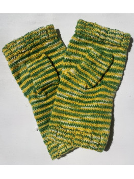Packer Backer, Superwash Merino Wool and Nylon, Fingerless Gloves, Hemmed Cuff