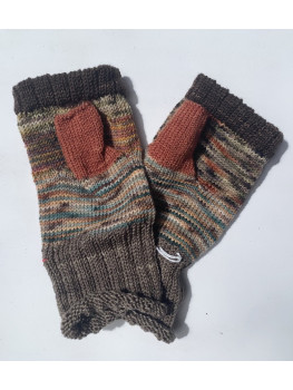 A Walk in the Woods, 100 percent Hand Painted Merino Wool, Fingerless Gloves