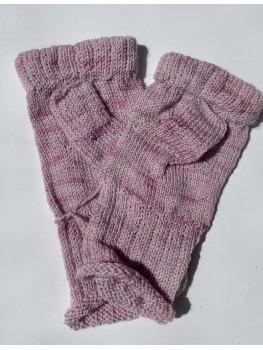 Pink Merino Cream, Superwash Merino Wool and Nylon, Fingerless Gloves