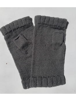 Goes With Everything Gray, No Wool, Fingerless Glove