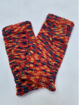 Bonfire, Superwash Wool and Nylon, Fingerless Gloves